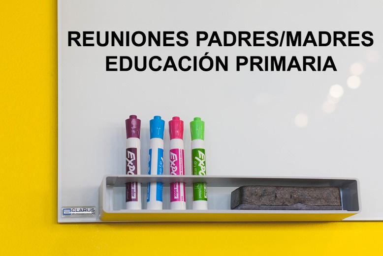 FECHAS REUNIONES DE PADRES EDUCACIÓN PRIMARIA CURSO 2018-2019